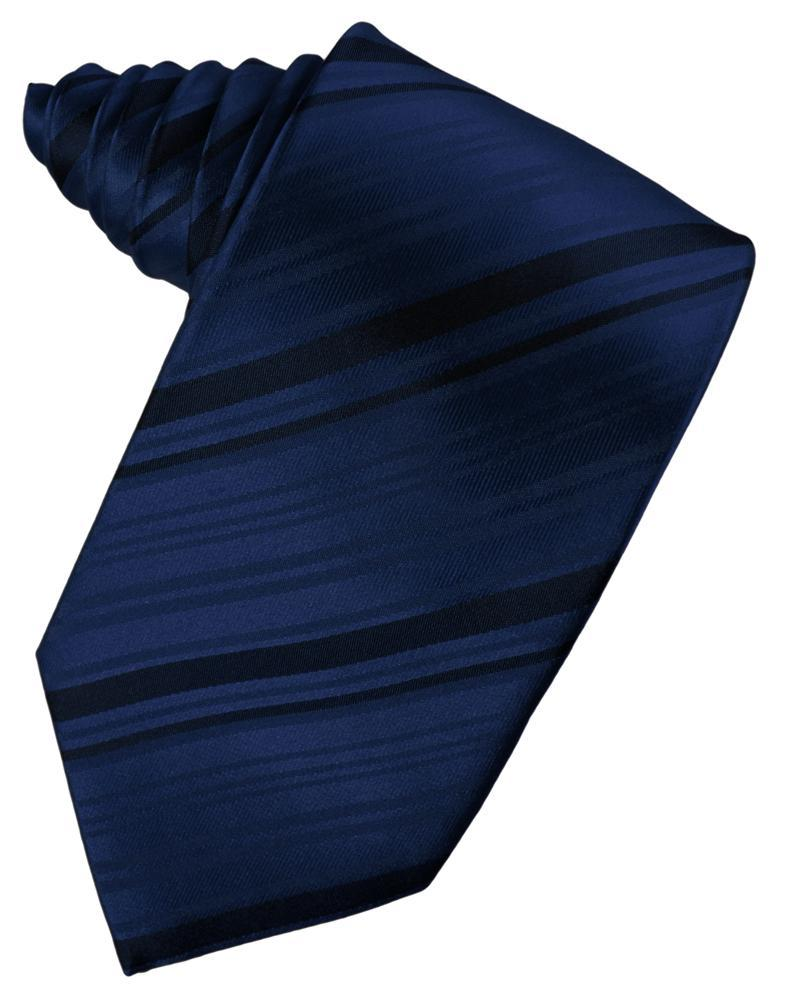 Peacock Striped Satin Necktie