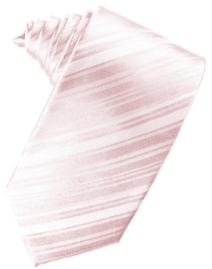 Pink Striped Satin Necktie