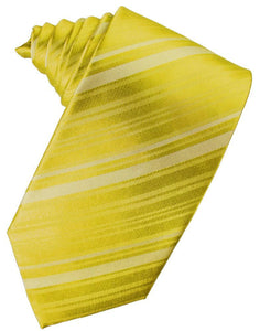 Willow Striped Satin Necktie