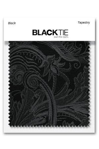 Black Tapestry Fabric Swatch