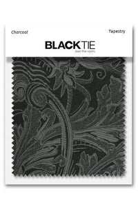 Charcoal Tapestry Fabric Swatch
