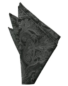 Charcoal Tapestry Pocket Square