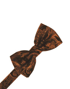 Cognac Tapestry Bow Tie