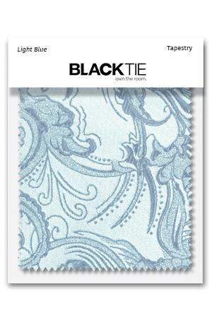 Light Blue Tapestry Fabric Swatch