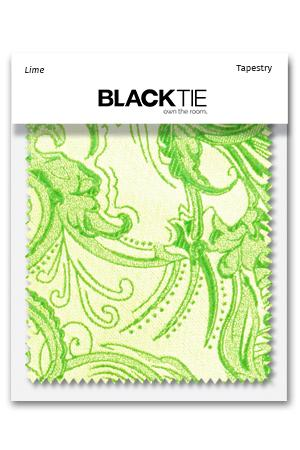 Lime Tapestry Fabric Swatch