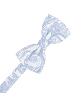 Light Blue Tapestry Bow Tie