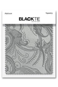 Platinum Tapestry Fabric Swatch