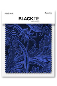 Royal Blue Tapestry Fabric Swatch