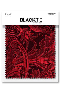 Scarlet Tapestry Fabric Swatch
