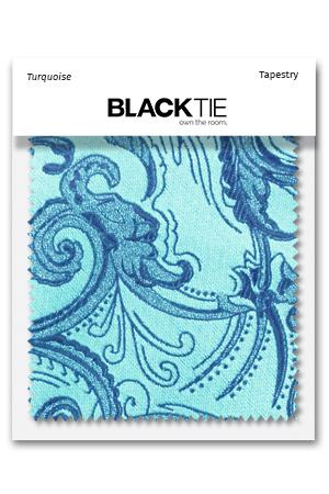 Turquoise Tapestry Fabric Swatch