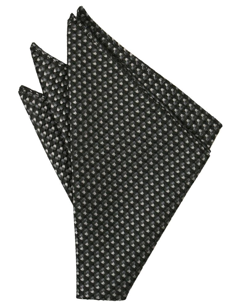 Asphalt Venetian Pocket Square