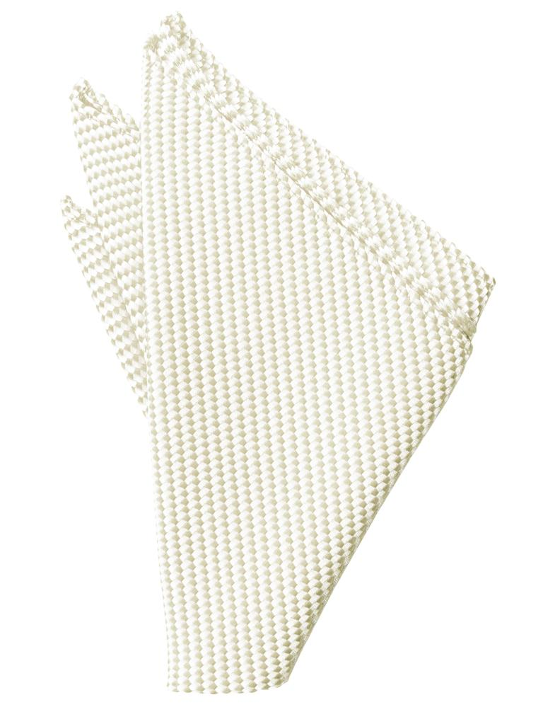 Ivory Venetian Pocket Square