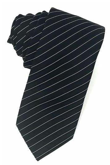 Black Newton Stripe Necktie