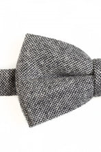 Black & White Tweed Bow Tie