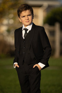 """Leo"" Kids Black 5-Piece Suit"