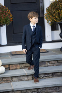 """Leo"" Kids Midnight Navy 5-Piece Suit"