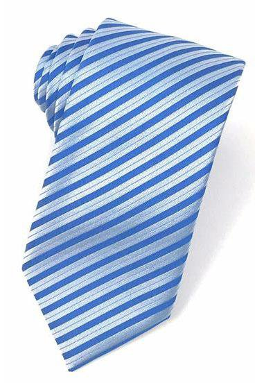 Blue Newton Stripe Necktie