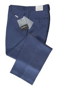 """Bradley"" Sapphire Blue Luxury Wool Blend Suit Pants - Unhemmed"