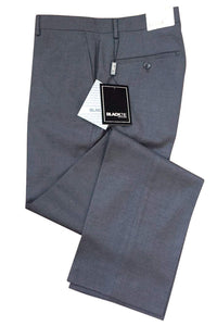"""Bradley"" Steel Grey Luxury Wool Blend Suit Pants - Unhemmed"