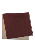Brown Silk & Cotton Blend Quad Pocket Square