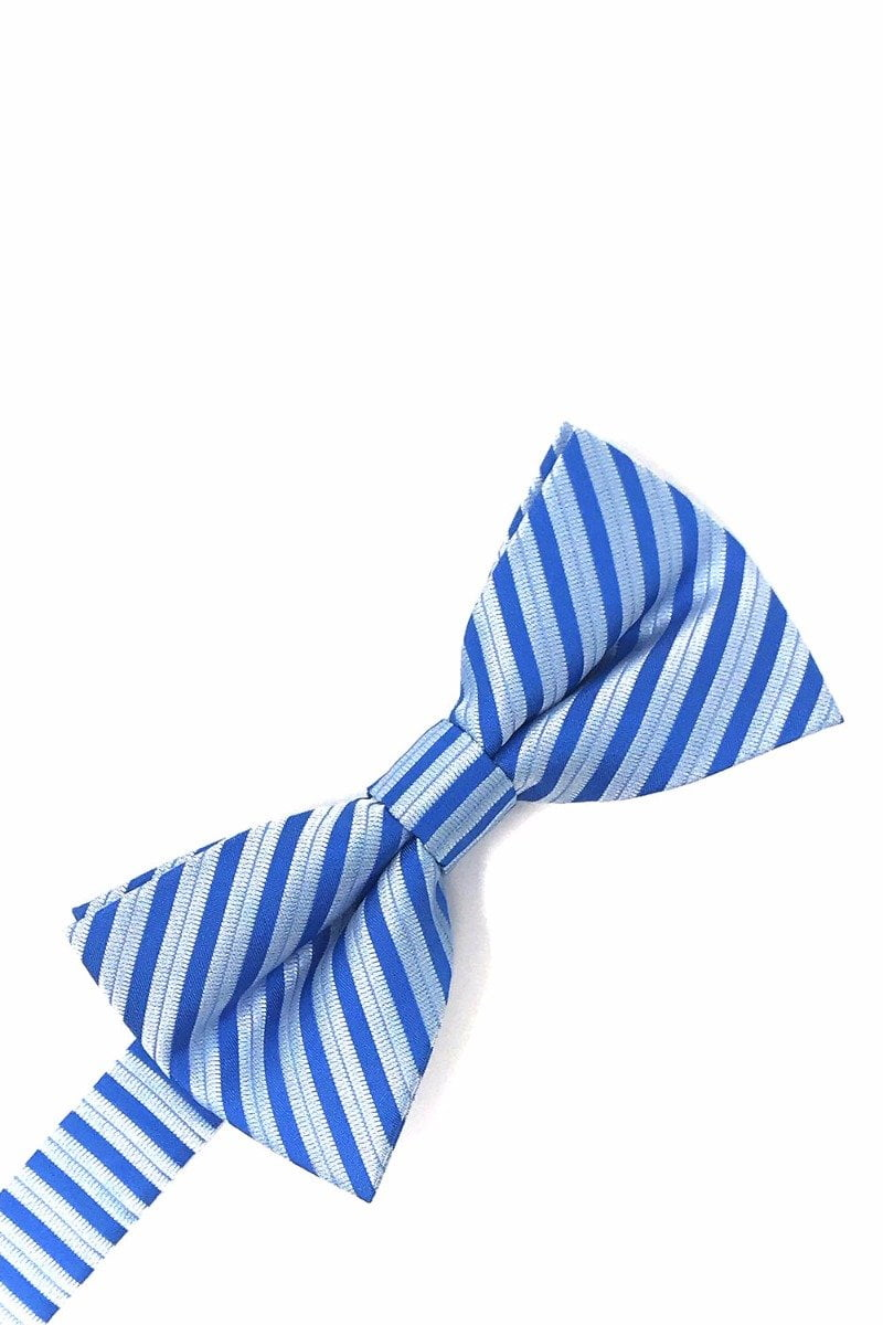 Blue Newton Stripe Bow Tie