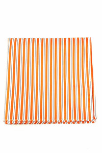 Orange Newton Stripe Pocket Square