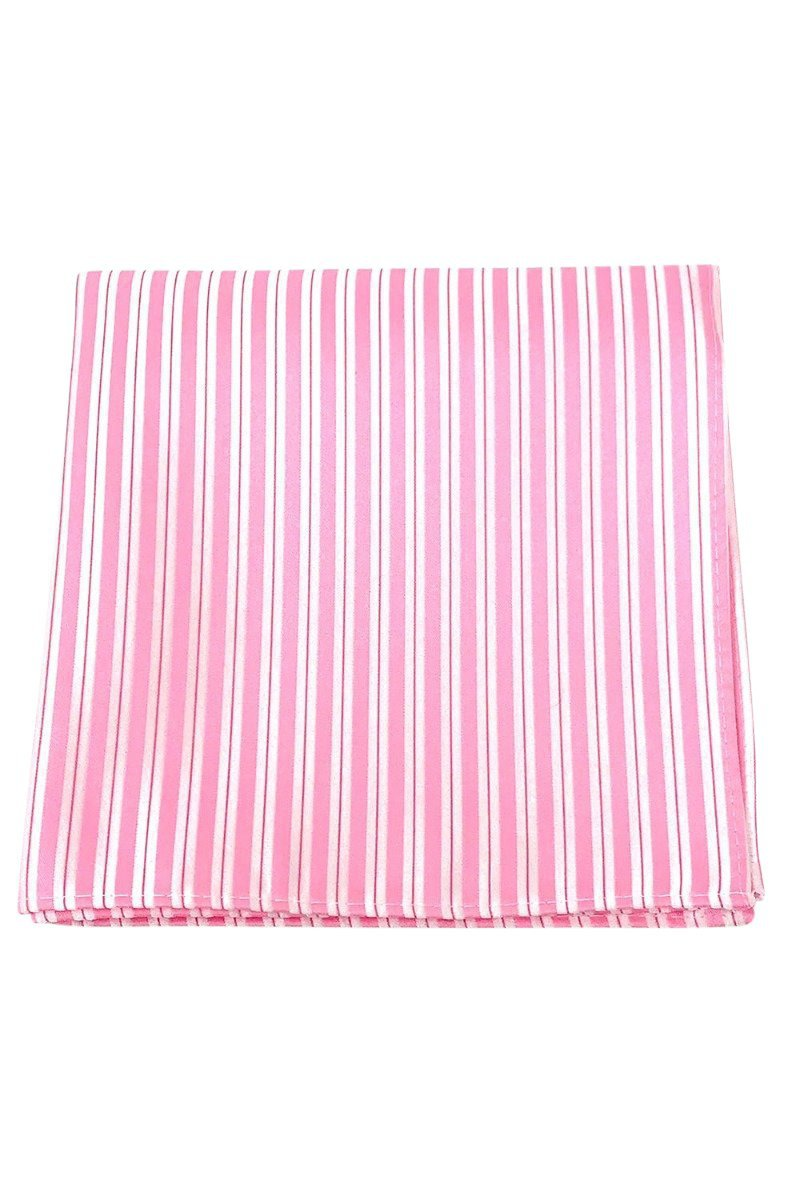 Pink Newton Stripe Pocket Square
