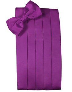 Cassis Luxury Satin Cummerbund