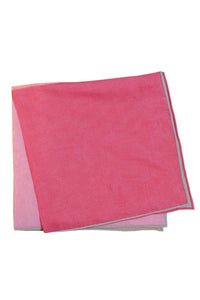 Coral Silk & Cotton Blend Quad Pocket Square