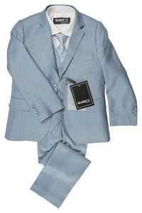 """Leo"" Kids Light Blue 5-Piece Suit"