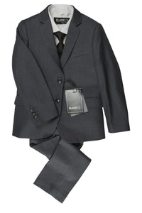 """Leo"" Kids Steel Grey 5-Piece Suit"