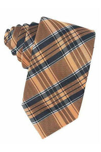 Orange Madison Plaid Necktie