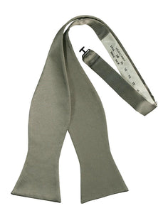 Platinum Noble Silk Bow Tie