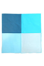Teal Silk & Cotton Blend Quad Pocket Square