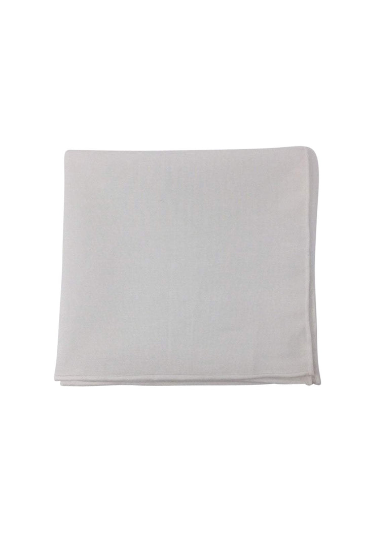 White Cotton Pocket Square
