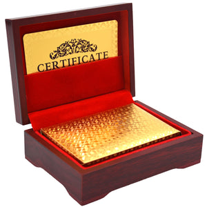 High Grade Gold Foil Playing Cards: Includes Cigar Box!