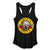 Guns N' Roses Distressed Bullet Logo - Womens Black Racerback Tank Top