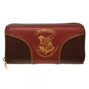 Harry Potter Gold Hogwarts Crest Juniors. Zip Wallet
