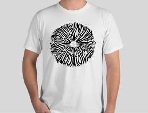 SC sporeprint  Organic cotton T-shirt W/ design by Elliot Bliss