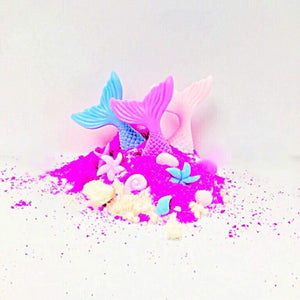 Bath Dust with Mermaid soap pieces
