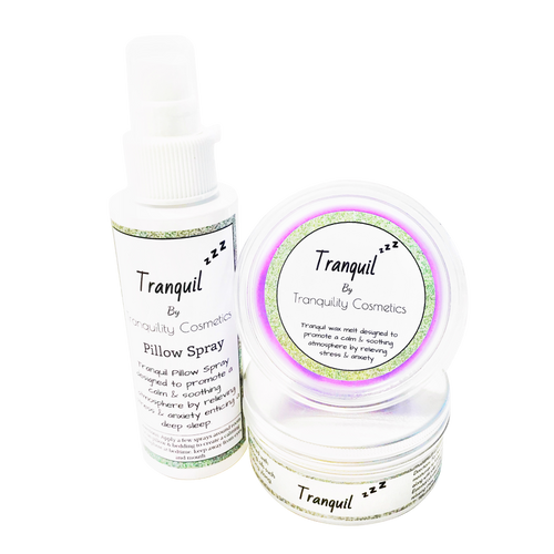 Tranquil wax melt, room spray & Moisturiser