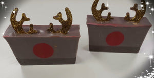 Reindeer soap slice