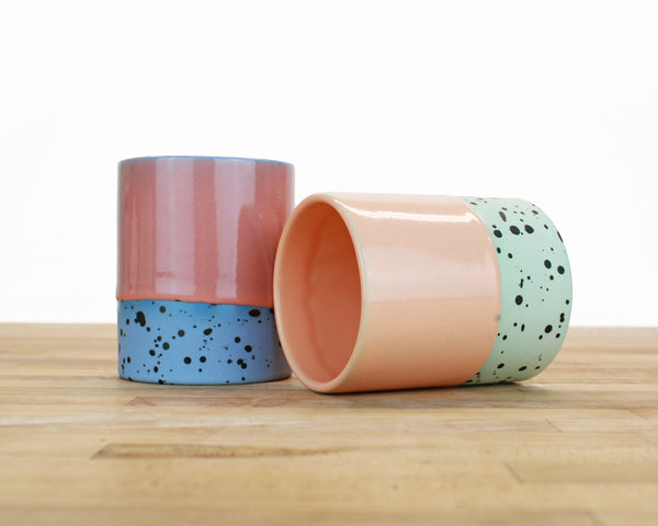 Dipped and Dotted Cups - 12 ounce