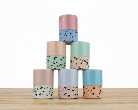 Seconds - Dipped and Dotted Cups - All Sizes!