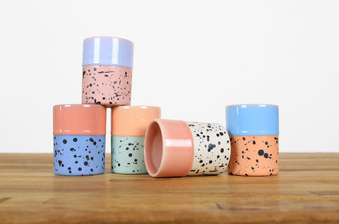 Dipped and Dotted Cups