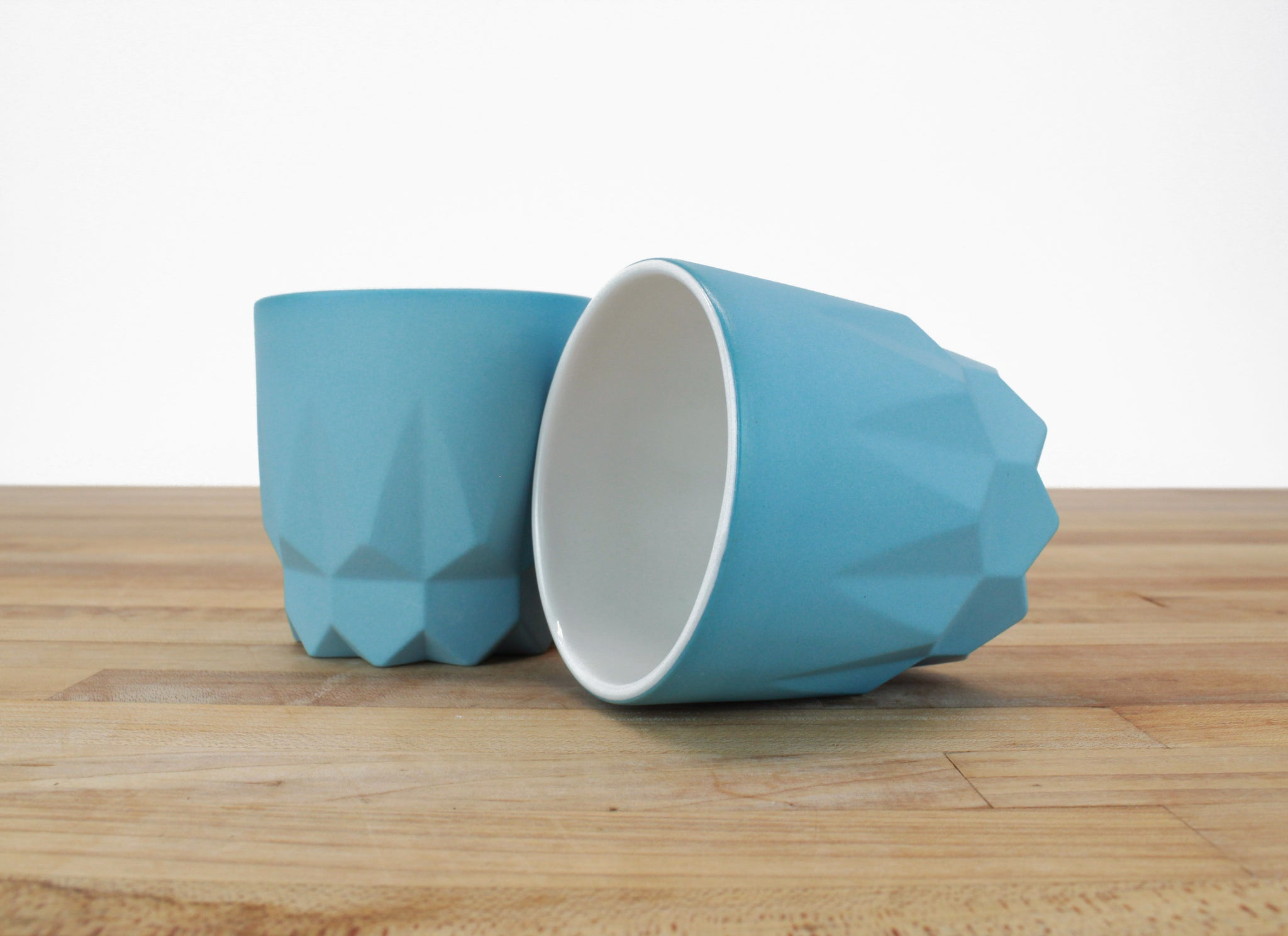 Faceted Cup No. 1 - Limited Edition Aqua