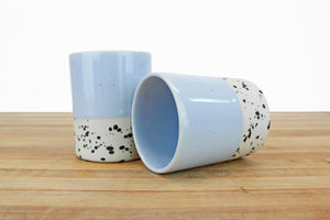 8 Ounce Limited Edition Cup - Periwinkle over Cream