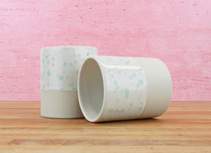 Limited Edition 12 Ounce Cup - Mint Spotted Glaze