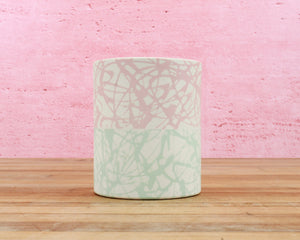 Limited Edition 12 Ounce Cup - Mint / Blush / Cream Splatter