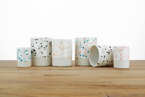 Spotted Glaze Cups - Three Sizes!